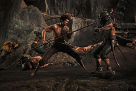 Immortals Movie Image Henry Cavill Spear Face