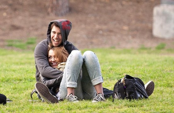 Miley Cyrus Miley Cyrus And Josh Bowman At Griffith Park In Los Wallpaper