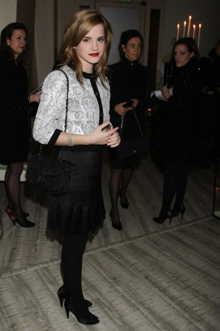 Emma Watson Chanel Party Red Hair