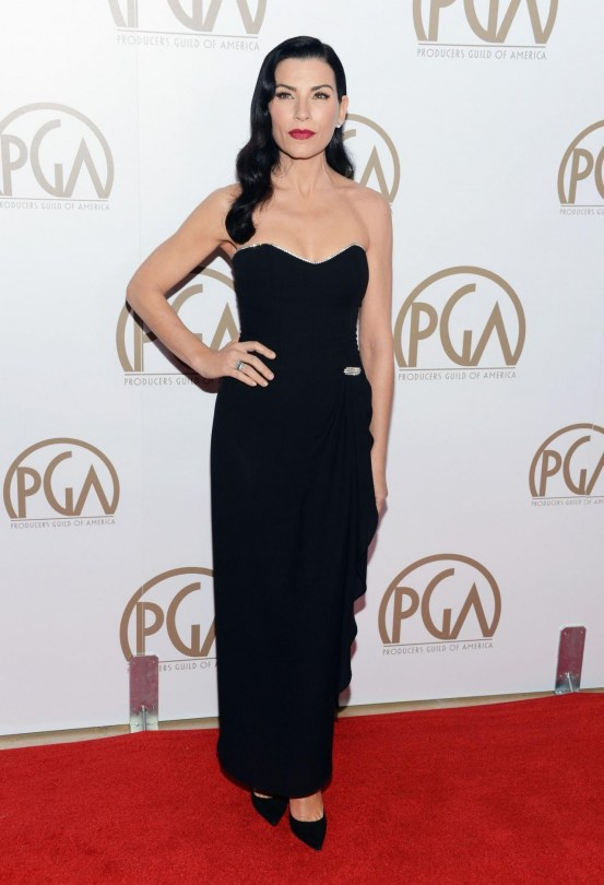 Julianna Margulies Black Dress Th Annual Producers Guild Award Beverly Hills January Feet