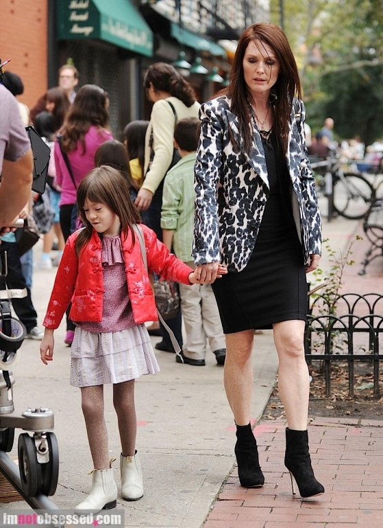 Julianne Moore On Set Nyc Young