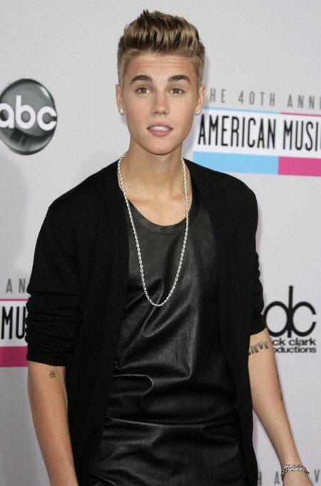 Justin Bieber Black Leather Te