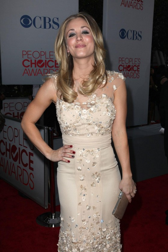 Kaley Cuoco At The Peoples Choice Awards At Nokia Theatre In Los Angeles