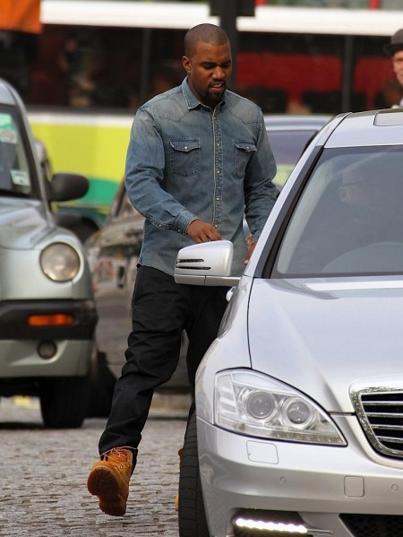 Kanye West Balmain Denim Shirt