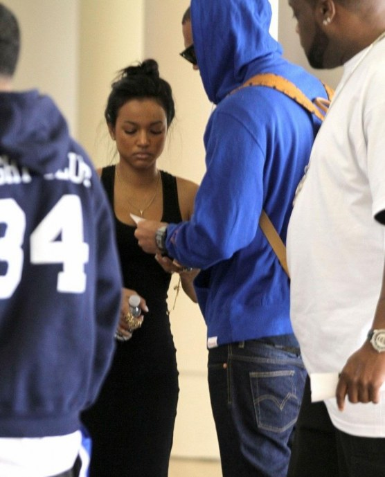Chris Brown Lax Departure With Karrueche Tran And Chris Brown