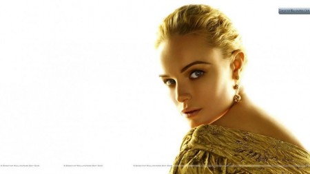 Kate Bosworth Golden Hair And Golden Dress Hair