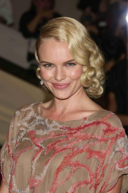 Kate Bosworth Tan Red Silver Dress Met Costume Institute Gala Benefit Bosworth Met Gala