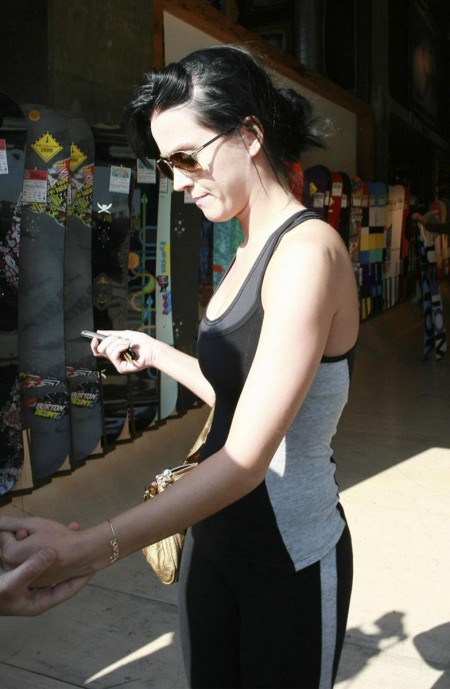 Katy Perry Out Shopping Tight Black Workout Clothes Cleavage Panty Line Kp Shopping