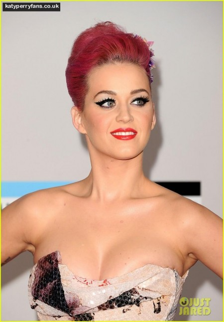 Katy Perry Rock Amas Red Carpet Red Carpet