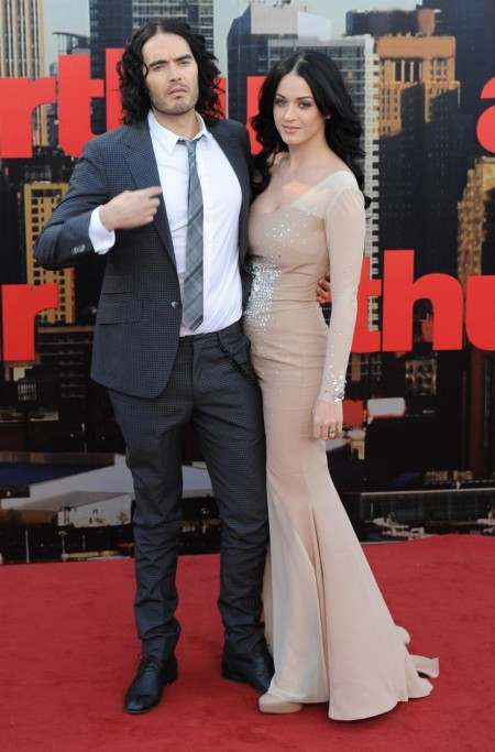 Russell Brand Katy Perry Attend Arthur Premiere And Russell Brand
