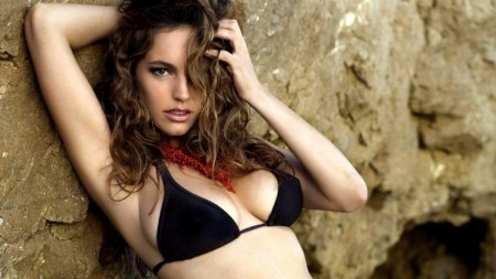 Kelly Brook Happy