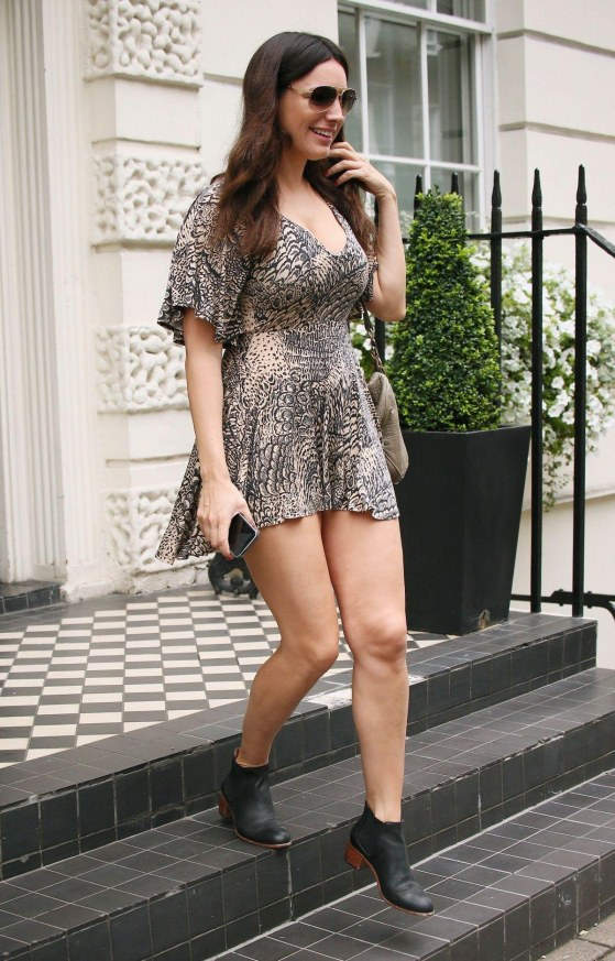Kelly Brook In Short Dress Out And About In London Clothes