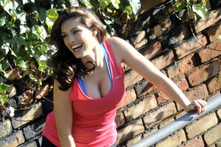 Kelly Brook Reebok Beach Candids Beach