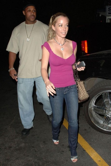 Kendra Wilkinson Purple Top Boobage