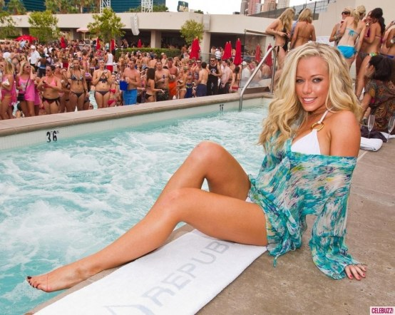 Kendra Wilkinson Swimsuit Pool Body