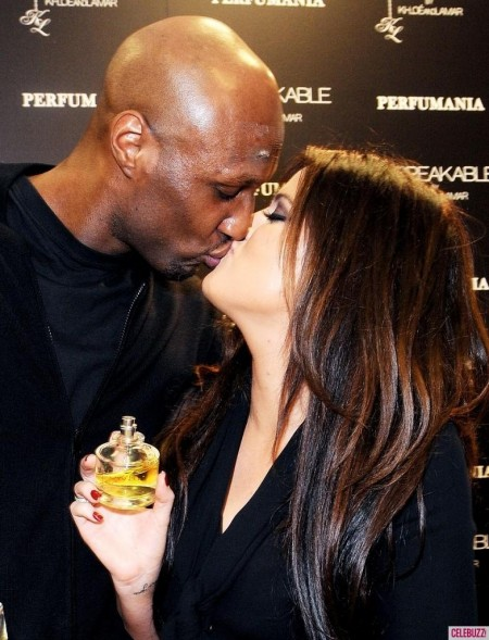 Khloe Kardashian And Lamar Odom Kissing Fragrance