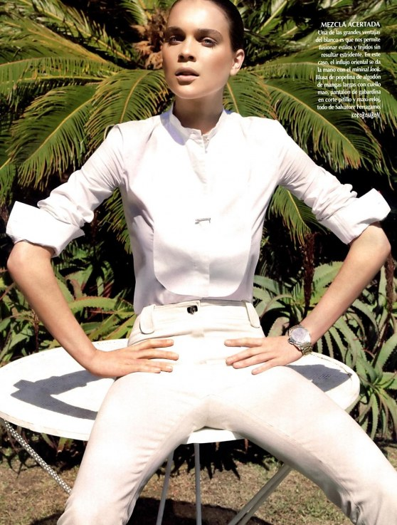 Kim Noorda By Marcin Tyszka For Vogue Mexico June Blanco Sobre Blanco Lara Stone
