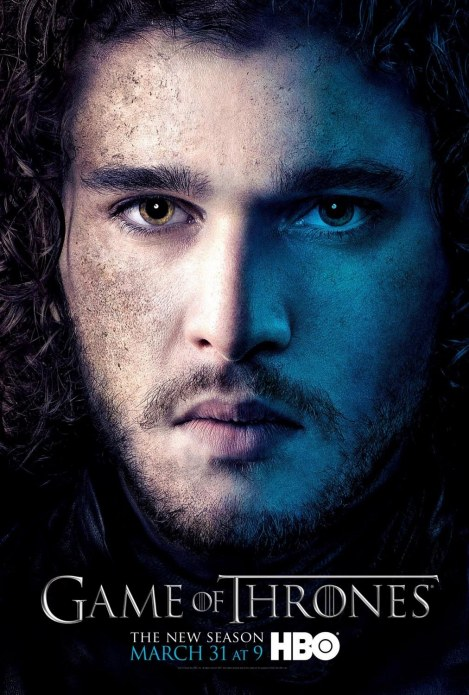 Game Of Thrones Season Character Television Posters Kit Harington As Jon Snow Tv