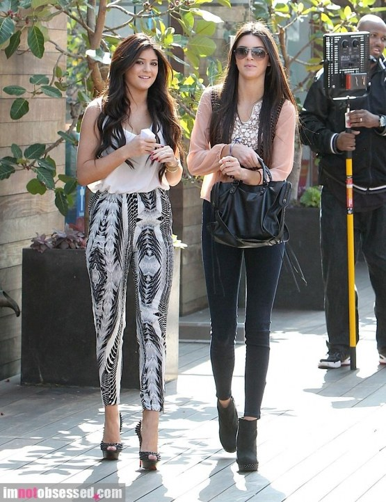 Kendall And Kylie Jenner Filming In Malibu