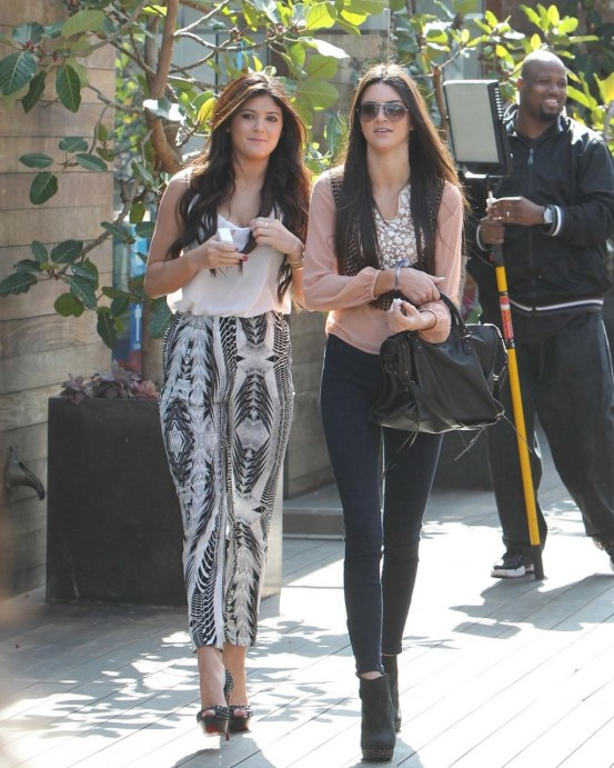 Kendall And Kylie Jenner On The Set Of Their Show In Malibu