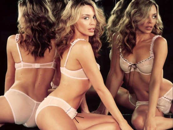 Kylie Minogue Sexy Lingerie Hot