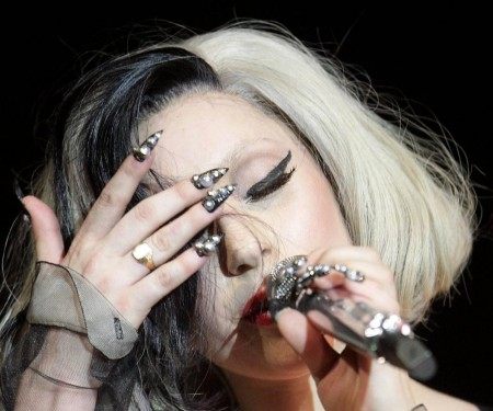 Lady Gaga Pointed Nails Red Carpet
