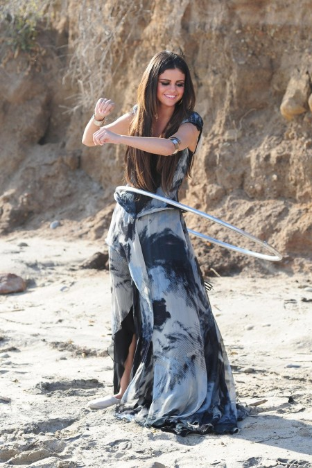 Selena Gomez On The Set Of Her New Music Video Love You Like Love Song