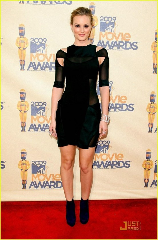 Leighton Meester Mtv Movie Awards Black Dress