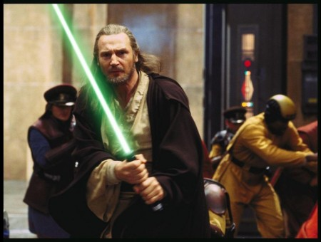 Still Of Liam Neeson In Star Wars Episode The Phantom Menace Large Picture Star Wars