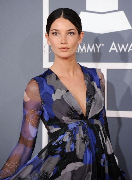 Lily Aldridge Pregnant Very Pretty Attending The Th Annual Grammy Awards Feb Grammys