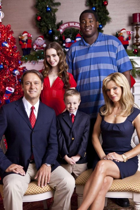 The Blind Side Tuohys Christmas Card Tim Mcgraw Jaehead Sandra Bullock Lily Collins Quinton Aaron Movies