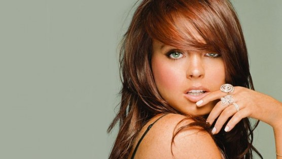 Lindsay Lohan Pink Lips Wallpaper