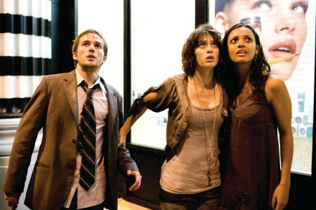Still Of Lizzy Caplan Jessica Lucas And Michael Stahl David In Cloverfield Large Picture Cloverfield