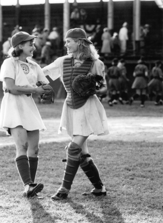 Still Of Geena Davis And Lori Petty In League Of Their Own