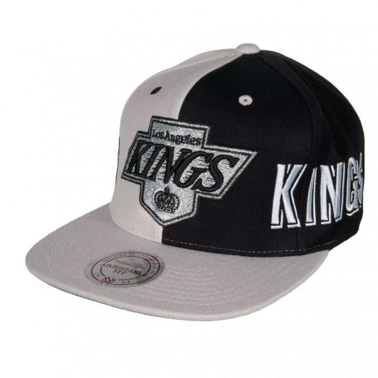 Los Angeles Kings Mitchell And Ness The Split Snapback Cap Xl