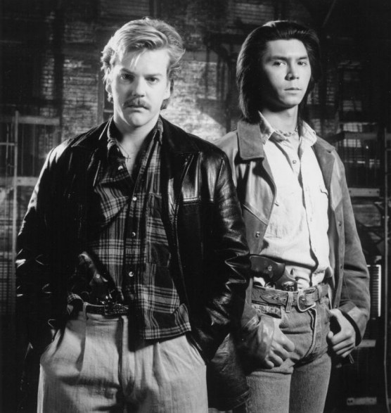 Still Of Kiefer Sutherland And Lou Diamond Phillips In Renegades Large Picture Renegades