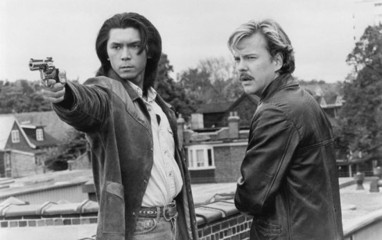 Still Of Kiefer Sutherland And Lou Diamond Phillips In Renegades Renegades