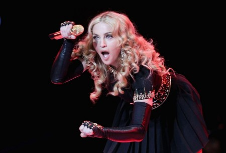 Madonna At Bridgestone Super Bowl Xlvi Pregame Show Shopping