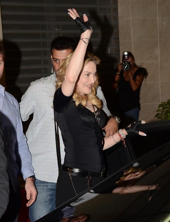 Madonna Opens Hard Candy Gym In Rome Grill