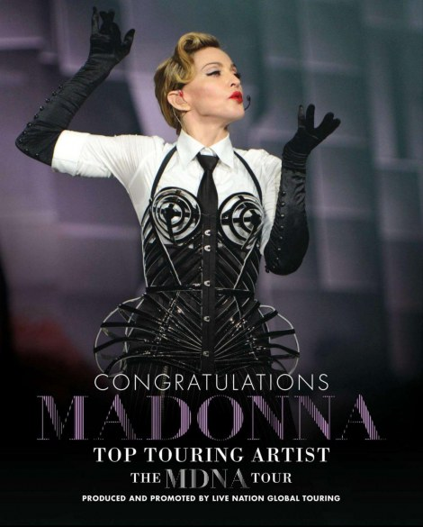 Pictures Madonna Billboard Magazine Mdna Tour Ad Music