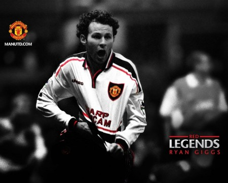 Ryan Giggs Red Legends Manchester United Wallpaper Wallpaper