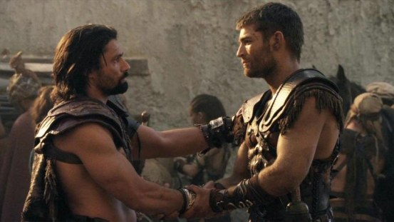 Spartacus War Of The Damned Crixus Manu Bennett Liam Mcintyre Bromance Images War Of The Damned