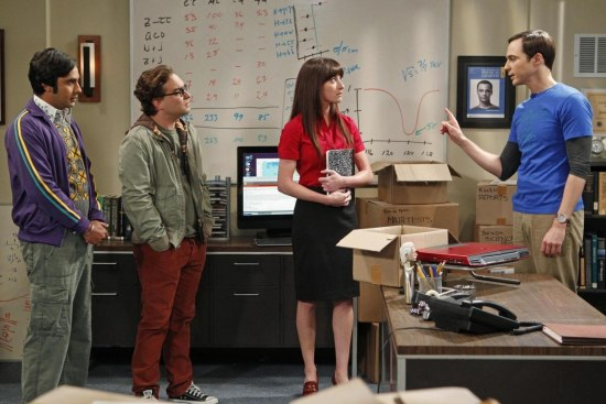 Picture Of Johnny Galecki Margo Harshman Jim Parsons And Kunal Nayyar In The Big Bang Theory Large Picture
