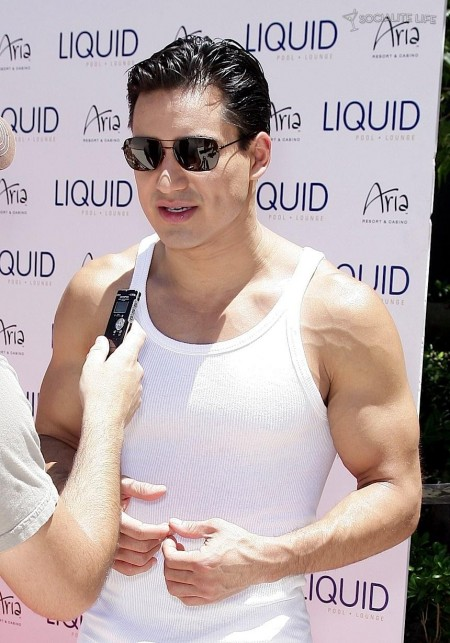 Mario Lopez Courtney Mazza Liquid Pool Vegas