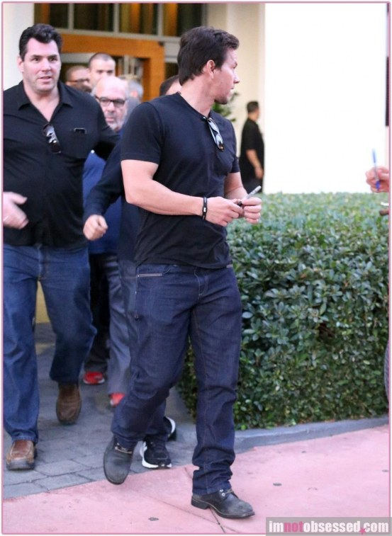 Mark Wahlberg With His Friends Fashion