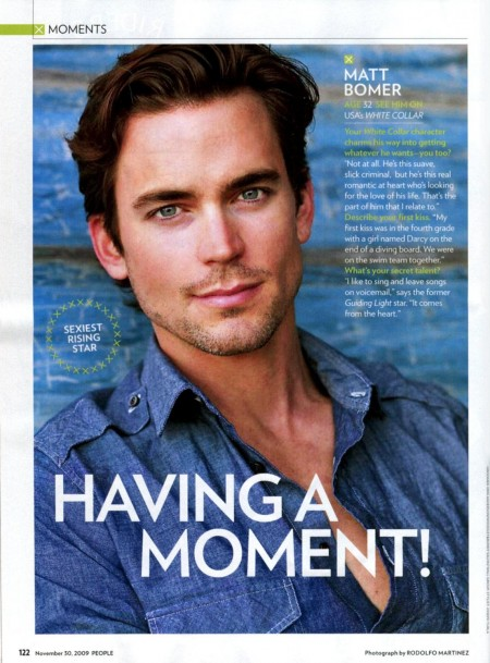 People Magazine Hottest Men Matt Bomer