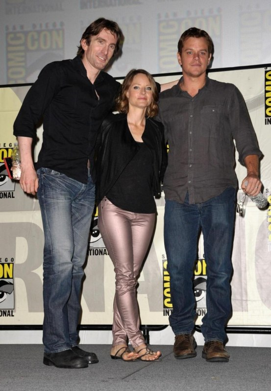 Jodie Foster Matt Damon And Sharlto Copley At Event Of Elysium