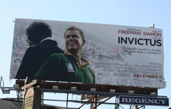 Matt Damon Invictus Movie Billboard Rugby