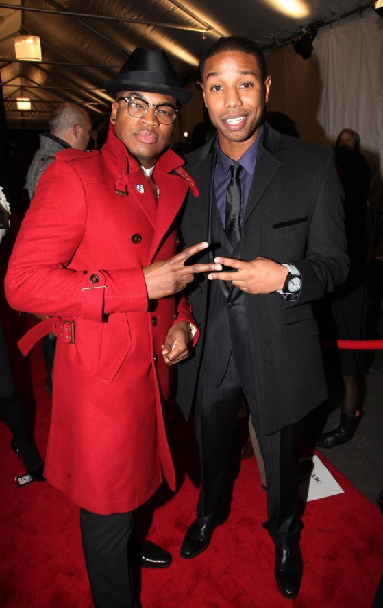 Michael Jordan And Ne Yo At Event Of Red Tails Michael Jordan Red Tails