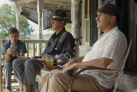 Picture Of Michael Caine Robert Duvall And Haley Joel Osment In Secondhand Lions Large Picture